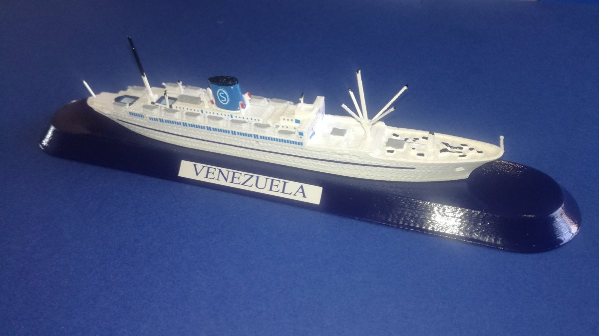 SIOSA FRATELLI GRIMALDI ship VENEZUELA Ex. De Grasse ex Empress of australia . - model ship 1 1250