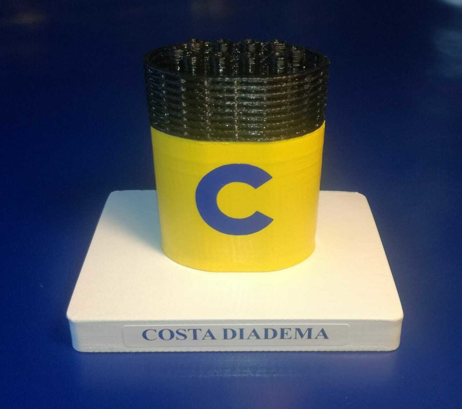 Costa Diadema , model funnel - Modello ciminiera scale 1:300 Costa Crociere