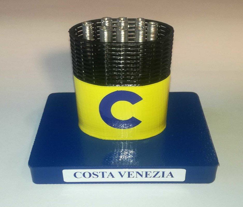 Costa Venezia , model funnel - Modello ciminiera scale 1:300 Costa Crociere