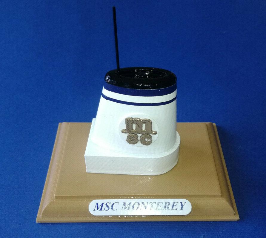 MSC MONTEREY modello ciminiera scala 1 300 MSC CROCIERE - STARLAURO