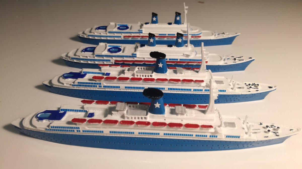 Angelina Lauro ex Oranje , scale 1:1250 flotta Lauro 1966/79