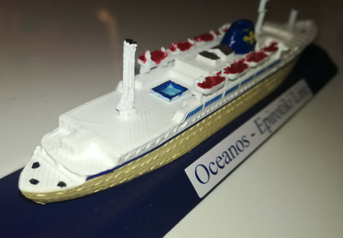 EPIROTIKI LINE Grecia model m/v Oceanos scala 1 1250 GreeK Ship Flotta Lauro