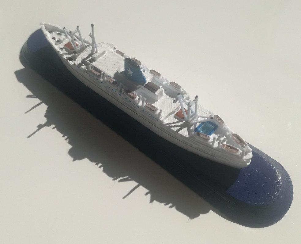 FLOTTA LAURO ship ROMA o SYDNEY anno 1951 Emigrant Ship 1951 model ship sc1 1250