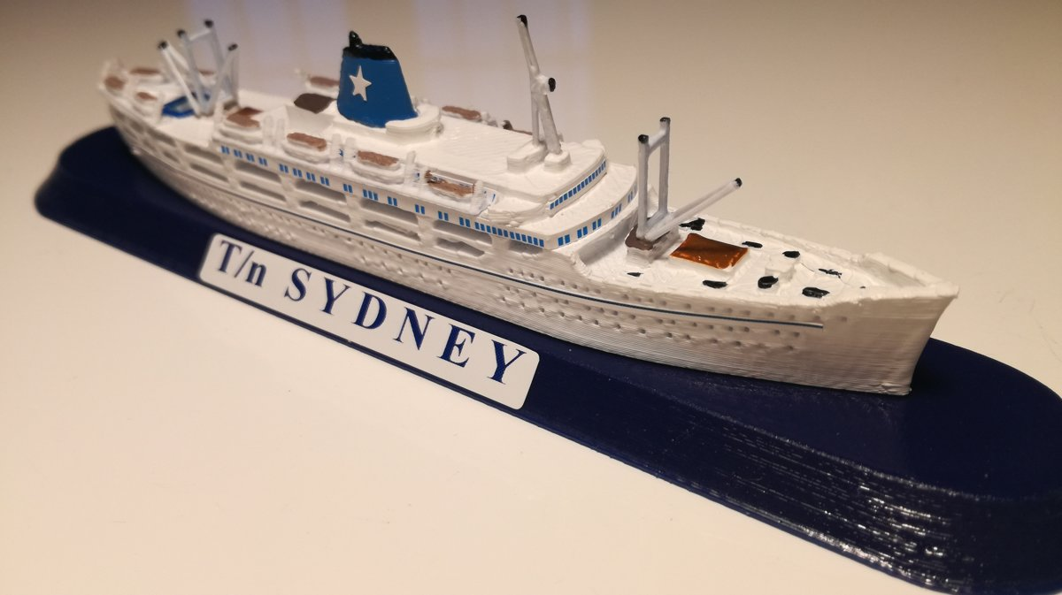 FLOTTA LAURO ship ROMA o SYDNEY anno 1951 Emigrant Ship 1951 model ship sc1 1250