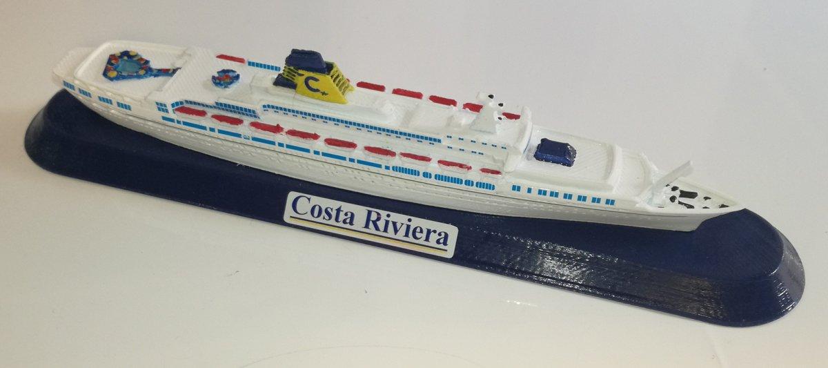 COSTA RIVIERA ex. T/n Guglielmo Marconi Costa Crociere metà anni 80 modello in scala 1:1250