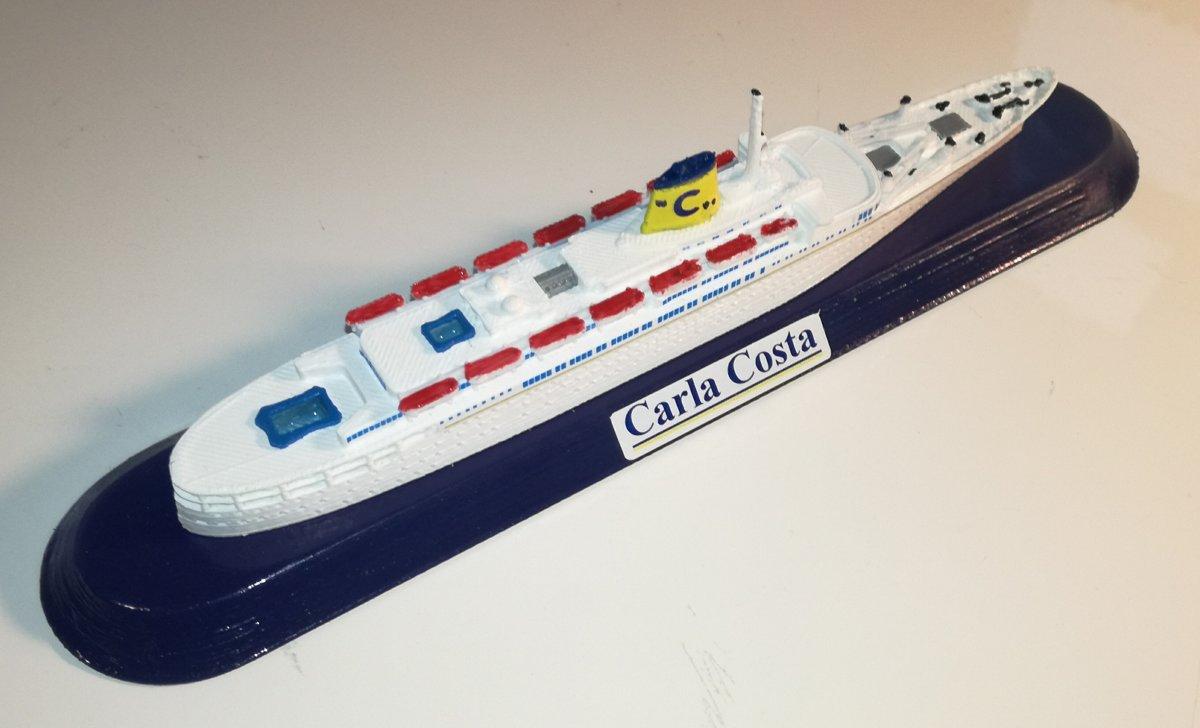 Modello nave Costa Crociere nave Carla Costa Ex, Flandre scala 1 1250 o Variante colori Epirotiky Line Pallas Athena
