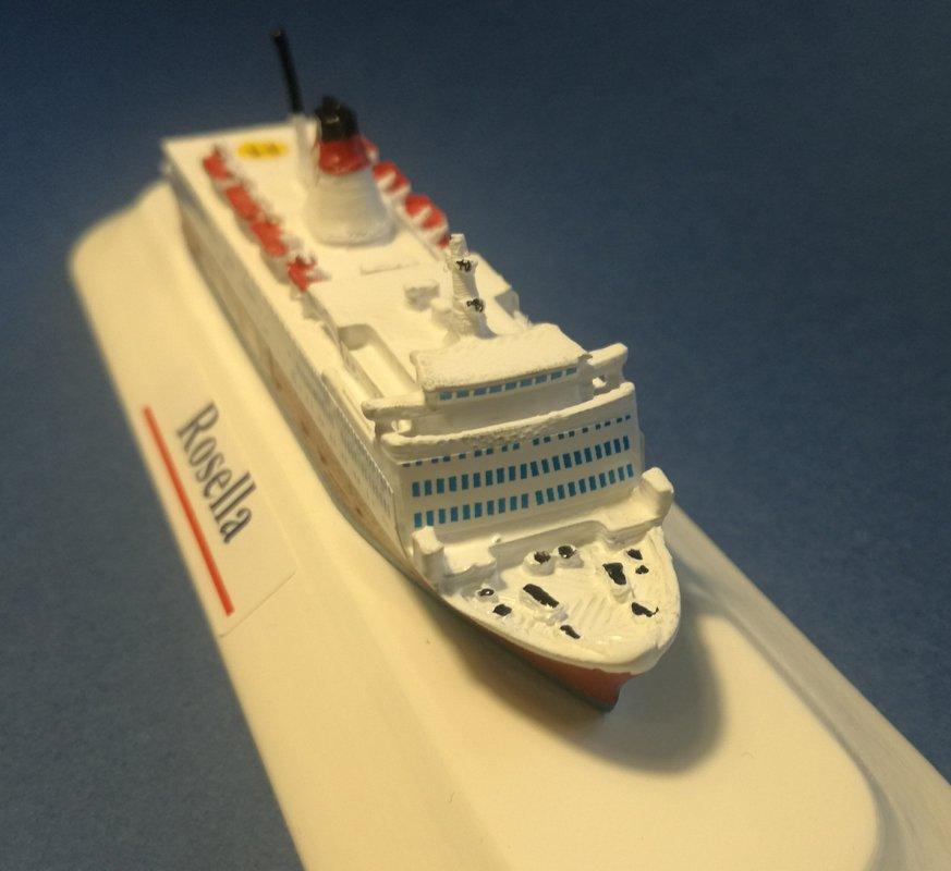 Model ship Ferry Ro/ro pax Rosella - Turella Viking Line Finland scale 1 1250