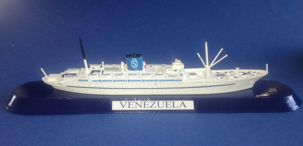 SIOSA FRATELLI GRIMALDI ship VENEZUELA Ex. De Grasse ex Empress of australia . - model ship 1 1250