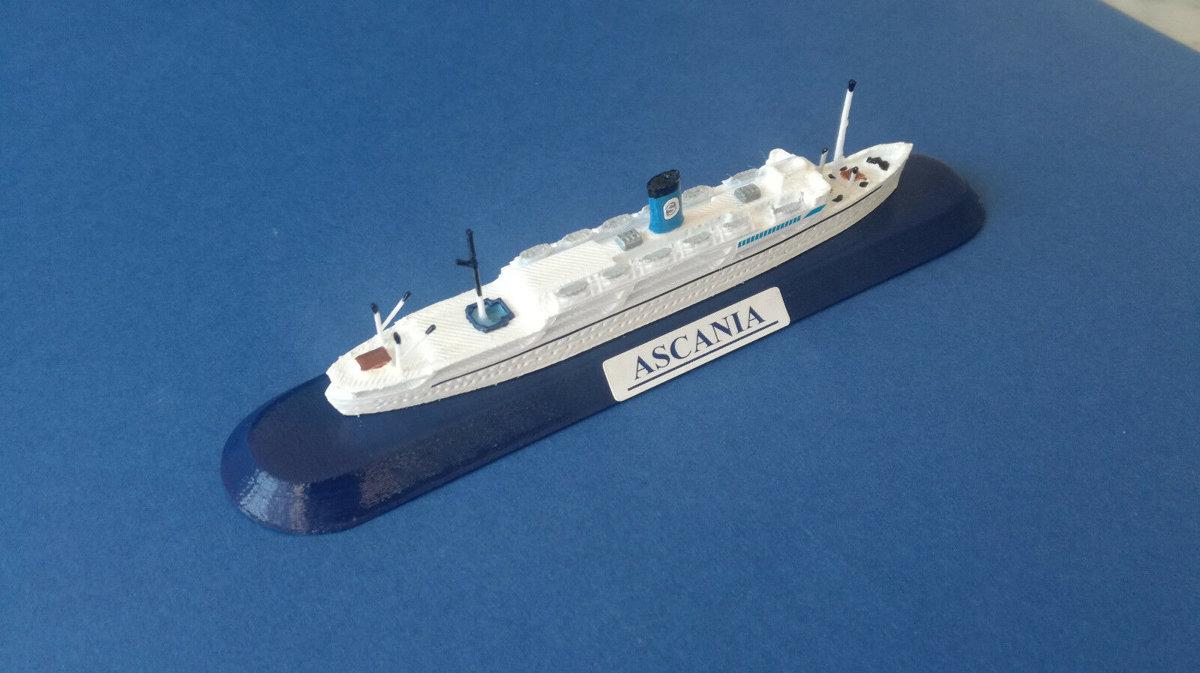ASCANIA anni 50 Ex Florida SIOSA line FRATELLI GRIMALDI model ship 1 1250