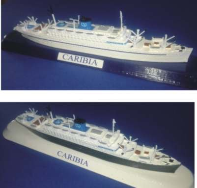 M/n Caribia ex. Vulcania gemella della Saturnia - Siosa Line F.lli Grimaldi - Saturnia - Vulcania N.G.I. in scala 1 1250