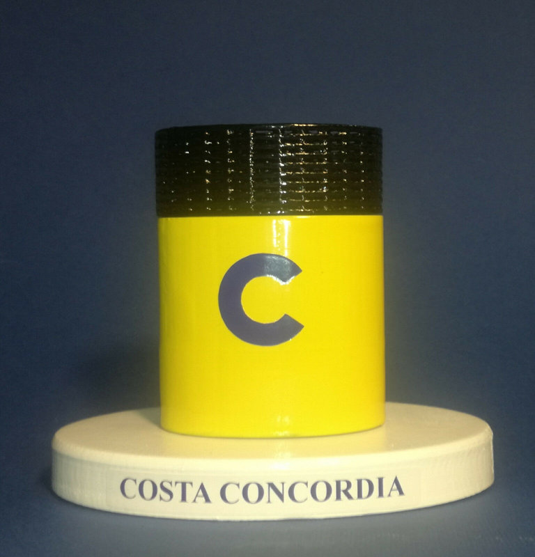 Costa Concordia , model funnel Concordia Class - Modello ciminiera scale 1:300 Costa Crociere