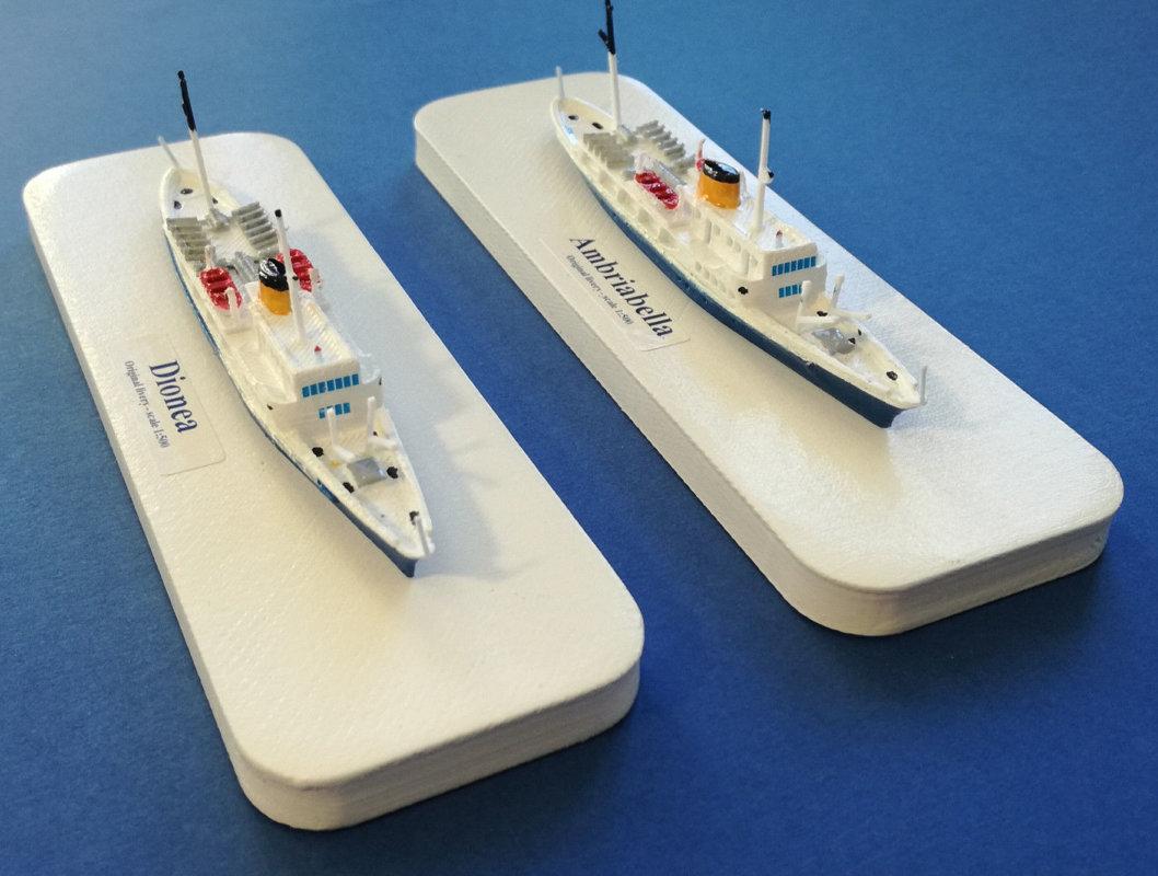 DIONEA o AMBRIABELLA soc. Alta Adriatica Trieste model ship Scale 1:500