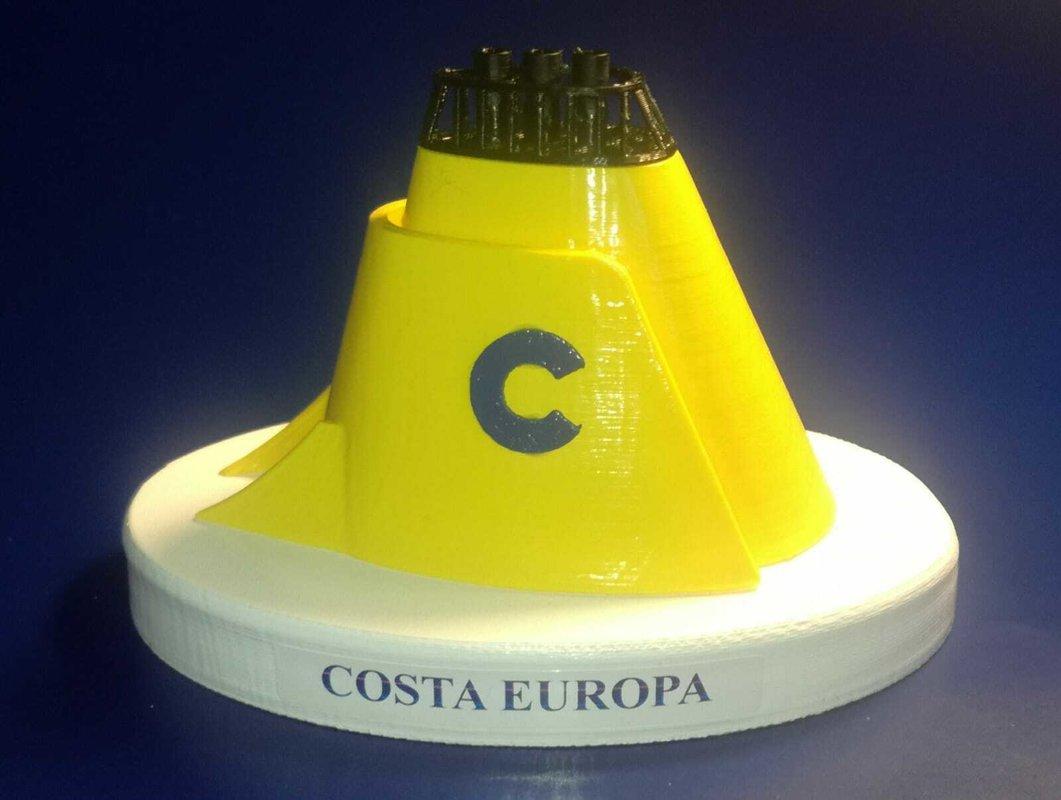Costa Europa Costa crociere ciminiera  in scala 1:300 ex Homeric Home line