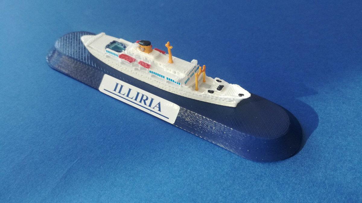 ILLIRIA Adriatica di Navigazione Venezia modello navale model ship 1:1250