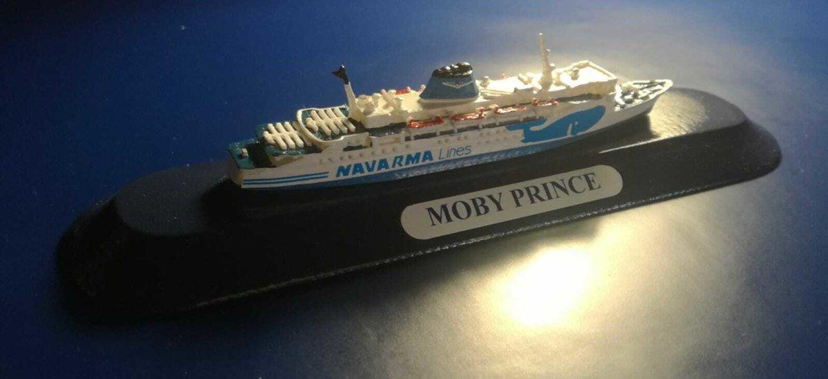MOBY PRINCE ex Koningin Juliana modellino nave scala 1:1250 MOBY- Navarma Lines
