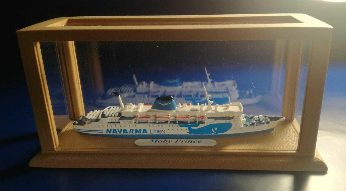 MOBY PRINCE ex Koningin Juliana modellino nave scala 1:1000 MOBY Lines- Navarma Lines
