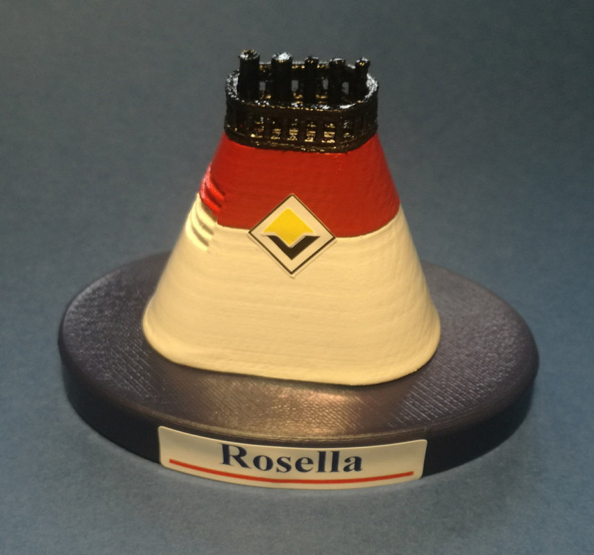Rosella and Turella Viking Line Finland Model ship Funnel  scale 1:300 - Ferry Ro/ro pax