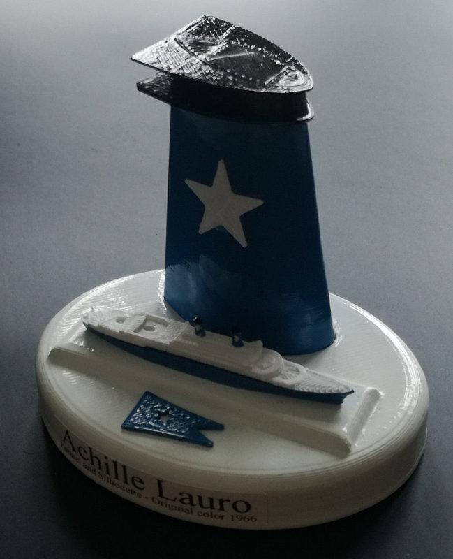 Flotta Lauro - Ciminiere Angelina Lauro ex Oranje - Achille Lauro ex. Willem Ruys  , Daphne , Sydney - Roma , Oceanos 1:300