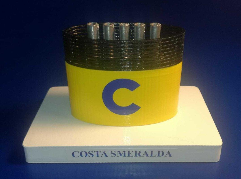 """COSTA SMERALDA """" NEW """" model funnel - Modello ciminiera scale 1:300 Costa Crociere"""