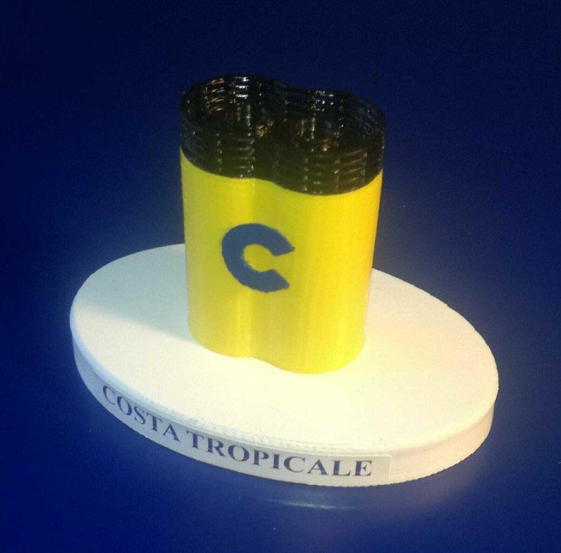 COSTA TROPICALE modello ciminiera scala 1 300 COSTA CROCIERE EX. TROPICALE