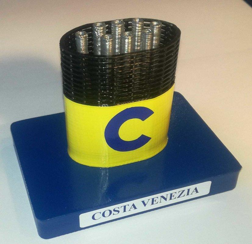 Costa Venezia , model funnel - Modello ciminiera scale 1:300 Costa Crociere