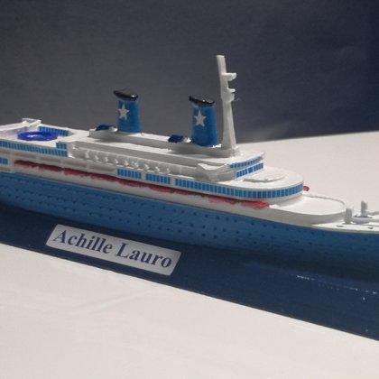 ACHILLE LAURO ex. Willem Ruys scale 1:1250 Flotta Lauro 1946 - 1994
